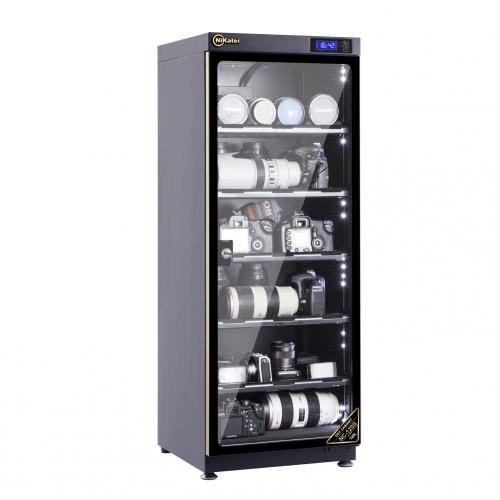 Tủ chống ẩm cao cấp Nikatei NC-120S viền nhôm mạ vàng