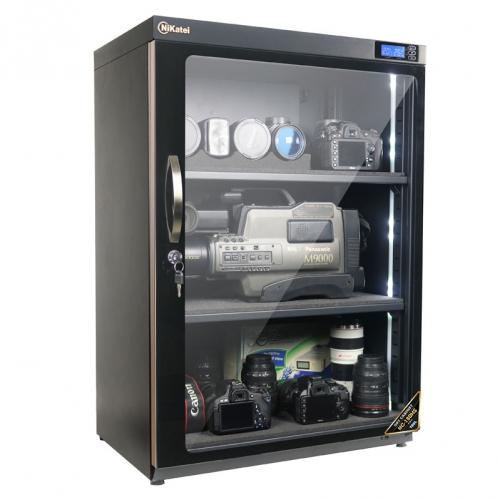 Tủ chống ẩm chuyên dụng Nikatei NC-180HS, viền nhôm mạ vàng (180 lít)
